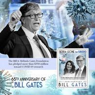 SIERRA LEONE 2020 - Bill Gates, COVID-19, S/S II. Official Issue [SRL200649b2] - Krankheiten