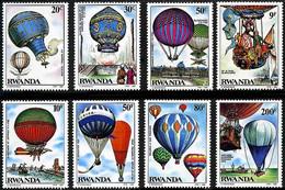 Rwanda 1984 Ballons Balloons Globos Yost Double Eagle II, Montgolfiere, Piccard FNRS-1, Blanchard - Altri (Aria)