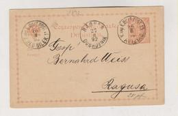 BOSNIA AND HERZEGOVINA Austria Postal Stationery 1892 AVTOVAC - Bosnia Herzegovina
