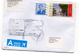 Envelope To Sofia Bulgarije - Met Stempels -  Returned Zuruck Retour Rts To Belgium - Cartas