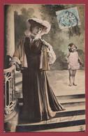 France 1 CP Portrait De Femme ( Certaines Signées) Années  Entre 1903 Et 1907 Lot N °17 - Silhouettes
