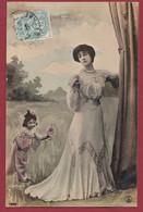 France 1 CP Portrait De Femme ( Certaines Signées) Années  Entre 1903 Et 1907 Lot N °24 - Silhouettes