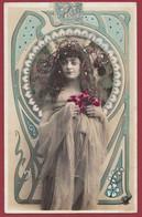 France 1 CP Portrait De Femme ( Certaines Signées) Années  Entre 1903 Et 1907 Lot N °34 - Silhouettes