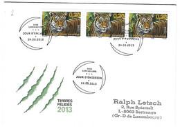 Luxembourg 2013 Tiger Tigre - Briefe U. Dokumente
