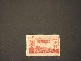 SAN MARINO -  ESPRESSO - 1923 ALLEGORIA/CROCE ROSSA  60 C. - NUOVO(++) - Francobolli Per Espresso