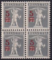 148 II Viererblock Aufbrauchsausgabe - Einwandfrei Postfrisch/**/MNH - Nuevos
