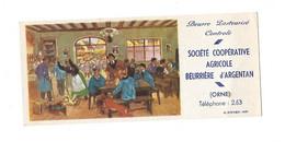 BUVARD- Societe Coopérative Agricole Beurrière D'ARGENTAN- ORNE BEURRE PASTEURISE - Alimentare