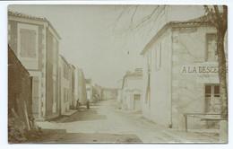 3985 Carte Photo Tirage Privée - COURCON Courçon - A LA DESCENTE +Panneau MAYE Sage Femme Rue Chauveau - Andere Gemeenten