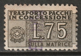 Italy 1953 Sc QY3  Parcel Post Authorized Half Used - Paketmarken