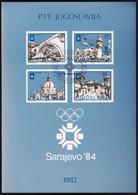 Yugoslavia 1982 / Olympic Games Sarajevo 1984 / Prospectus, Leaflet, Brochure - Altri