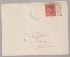 Semeuse N°264 Surchargée Congrès Du B.I.T. Sur Lettre De Paris Rue De La Douane Pour Romenay (saône Et Loire) - 1903-60 Sower - Ligned