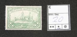 Nr.20 Deutsch-Ostafrika Mit Pfalzrest - Colonia: Africa Orientale