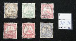 Nr.30-34 Deutsch-Ostafrika Gebraucht - Colonia: Africa Orientale