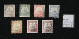 Nr.30-36 Deutsch-Ostafrika Mit Pfalzrest - Colonia: Africa Orientale