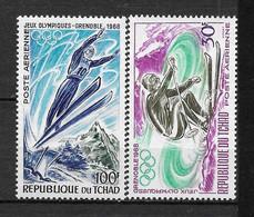 """TCHAD Afrique : """"Jeux Olympiques"""" Poste Aérienne N° 44/45 ** TB (cote 4,20 €) - Tsjaad (1960-...)"""