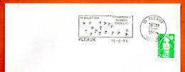 15 PLEAUX   1944 OPERATION  CADILLAC   1994 Lettre Entière N° HI 194 - Sellados Mecánicos (Publicitario)