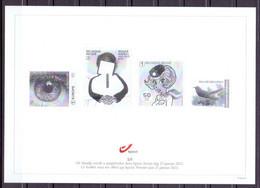 Belgie - 2021 - Zwart - Wit Blaadje - 1/5 - Eerste Dag 25 Januari 2021 - Unused Stamps