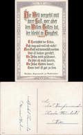 Ansichtskarte  Glückwunsch Postkarte Konfirmation, Bibel Auszug Johannes 1910 - Sin Clasificación