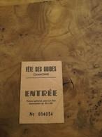 FETE DES GUIDES CHAMONIX ENTREE TIMBRE QUITTANCE PAYE N° 004034 - Eintrittskarten