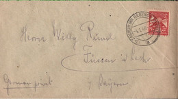 ! 1946 Mecklenburg Kleiner Brief Aus Zachun, Kreis Hagenow Nach Füssen  In Bayern - Sovjetzone