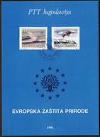 Yugoslavia 1991 / European Nature Protection, Preservation, Animals / Prospectus, Leaflet, Brochure - Sonstige