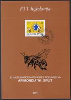 Yugoslavia 1991 / Bees, Int. Federation Of Beekepers` Associations APIMONDIA `91, Split / Prospectus, Leaflet, Brochure - Sonstige