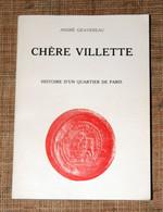 André Gravereau Chère Villette Histoire Quartier De Paris Chez L'auteur 1977 Boucherie - Ile-de-France