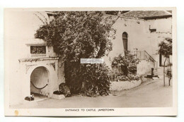 St Helena - Jamestown, Entrance To Castle - Old Real Photo Postcard - Saint Helena Island