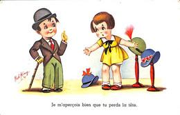 Je M'aperçois..que Tu Perds La Tête (Bob King Charlot Charlie Chaplin 1943) - Cartoline Umoristiche