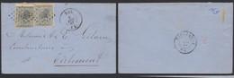 émission 1865 - N°17 X2 Sur LSC Obl Pt 163 çàd Hal (1867) > Tirlemont / Collection Spécialisée - 1865-1866 Profile Left