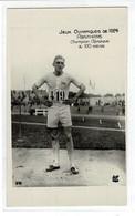 CPA -carte Photo : PARIS -jeux Olympiques De 1924 - ABRAHAMS, Champion Olympique Du 100 Mètres - Cafés, Hôtels, Restaurants