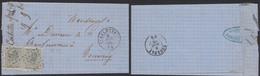 émission 1865 - N°17 X2 Sur LSC Obl Pt 191 çàd Ingelmunster (1866) > Tournay / Collection Spécialisée - 1865-1866 Profile Left