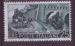 Italie N° 724 ** Neuf Sans Charnière - Train Et Tunnel - 1946-60: Nieuw/plakker