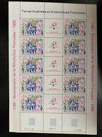 TAAF FEUILLE COMPLETE 10 TIMBRES BICENTENAIRE DE LA REVOLUTION 1789-1989 - Unused Stamps