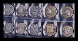 Siria Set 5 Monedas 1 2 5 10 25 Pounds 1996 - 2003 SC UNC - Syrien