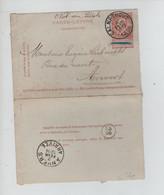 REF3285/ Entier CL 9 C.Calmpthout (Kalmpthout)  1898 > Anvers C.d'arrivée C.Facteur 28 - Letter-Cards