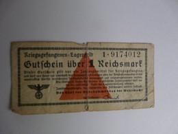 VIEUX PAPIERS - ALLEMAGNE : Kriegsgefangenen Lagergelb - 1 Reichsmark - 1900 – 1949