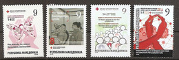 MACEDONIA 2018,COMPLETE,RED CROSS,SOLIDARITY,tuberculose,,ADITIONAL STAMPS,,,MNH - Red Cross