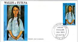 FDC Wallis Et  Futuna  Amedeo Modigliani 1984. - FDC