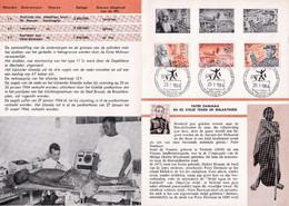 Feuillet Poste FDC 1278 à 1280 Strijd Tegen De Melaatsheid Pater Damiaan - Documentos Del Correo