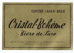 Ancienne étiquette Brasserie Franche-Comté-Alsace à Lutterbach 68 - Birra