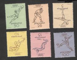 YUGOSLAVIA-MNH SET-Summer Olympics Helsinki - 1952. - Sommer 1952: Helsinki