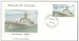 "FDC Wallis Et  Futuna   L'aviso Escorteur ""Protet"" 1981 - FDC"