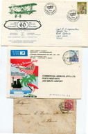 1 Lot Covers, Postcards (44) 1896 - 19.. , Stamps - Airmail Balloon 1st Flights Official Glider RAnd Airport Check Scans - Collections, Lots & Séries