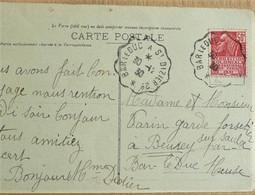 """Rare Cachet Convoyeur """"Bar Le Duc A St-Dizier 2° 1930"""" Indice=6 Frappe Superbe Cp Poissons (Hte Marne) - Railway Post"""
