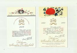 VIGNES - CPM Nbr 7 - Etiquettes De Vin Chateau Mouton Rothschild Année 1952 1969 1973 1976 1978 1985 1987 Bon état - Vines
