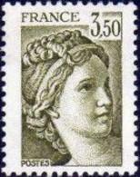FRANCE 1981 Neuf**, Sabine 3f50 Vert Olive YT 2121 - Ungebraucht