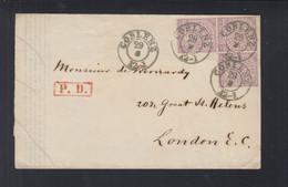 NDP Drucksache Nach London Dreier Einheit - Norddeutscher Postbezirk (Confederazione Germ. Del Nord)