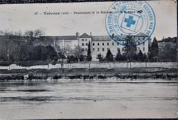 """Cachet """"Hopital Auxiliaire N°7 La Sidoine"""" 1914 Frappe Superbe Cp Trévoux - WW I"""