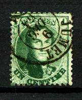 BELGIQUE - YT 13C - 1c Vert Léopold 1er - Dentelé 12,5 X 13,5 - Oblitéré - Très Beau - 1863-1864 Medallones (13/16)